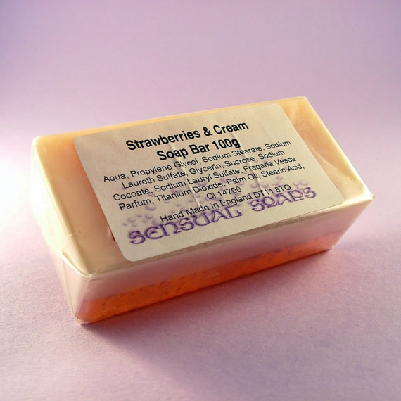 Strawberries and Cream Soap Bar 100g